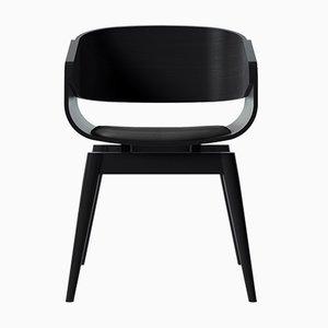 Sedia 4th Armchair nera con seduta morbida di Almost