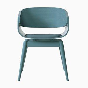 Butaca 4th en azul con asiento acolchado en azul de Almost