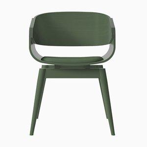 Butaca 4th en verde con asiento acolchado en verde de Almost