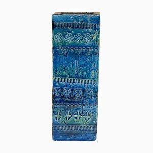 Rimini Blu Ceramic Vase by Aldo Londi for Bitossi, 1970s