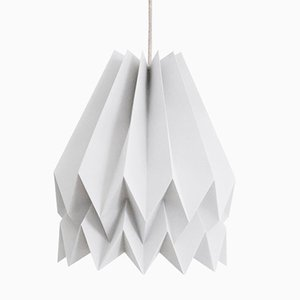 PLUS Plain Light Grey Origami Lamp by Orikomi