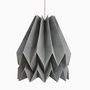 PLUS Plain Alpine Grey Origami Lamp by Orikomi