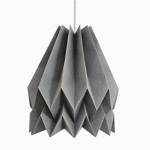PLUS Plain anthrazitgraue Origami Lampe von Orikomi