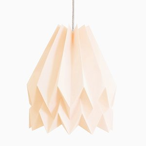 PLUS Plain Pastel Pink Origami Lamp by Orikomi
