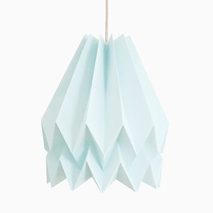 PLUS Plain Mint Blue Origami Lamp by Orikomi