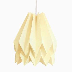 Lampe Origami PLUS Jaune Pâle Uni par Orikomi