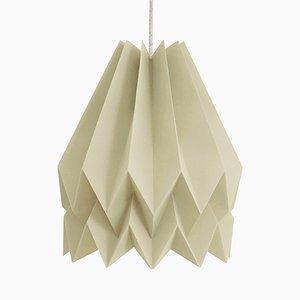 PLUS Plain helle graubraune Origami Lampe von Orikomi