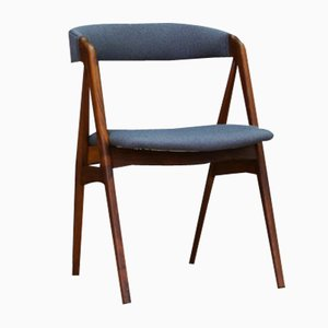 Teak Veneer & Fabric Chair by Kai Kristiansen for Uldum Møbelfabrik, 1960s
