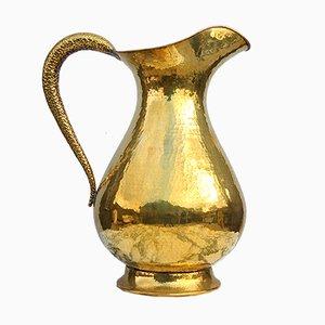 Große italienische Vase aus gehämmertem Messing, 1950er