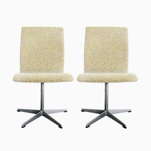 Dänische Oxford Stühle von Arne Jacobsen für Fritz Hansen, 2er Set