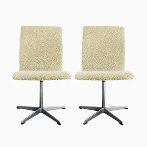 Danish Oxford Chairs by Arne Jacobsen for Fritz Hansen, Set of 2