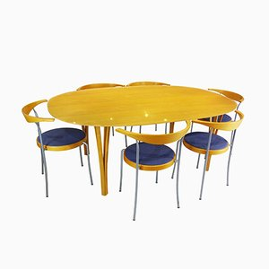 Super Ellipse Danish Dining Room Set by Piet Hein & Bruno Mathsson for Fritz Hansen, 1980s