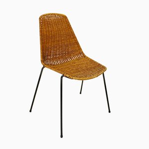 Mid-Century Modern Wicker Chair by Gian Franco Legler, 1951