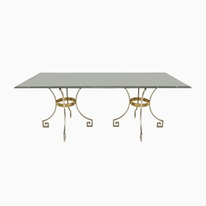 Dining Table with Greek Key Detail, 1970s