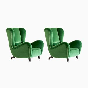 Wingback Chairs, 1940s, Set of 2
