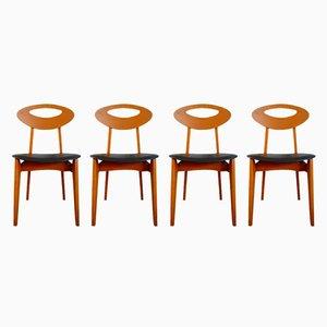 Sedie da pranzo vintage di Roger Landault per Sentou, set di 4