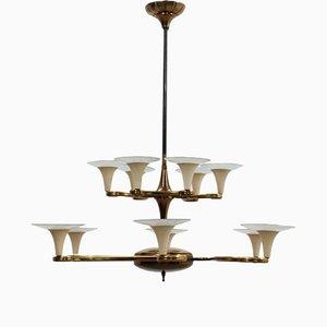 Lámpara de araña italiana Mid-Century de Lumi
