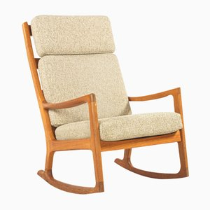 Highback Rocking Chair by Ole Wanscher for Peter Jeppesen, 1960s