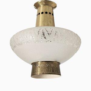 Lampada da soffitto ad incastro di Birger Dahl per Sonnico, Scandinavia, anni '50