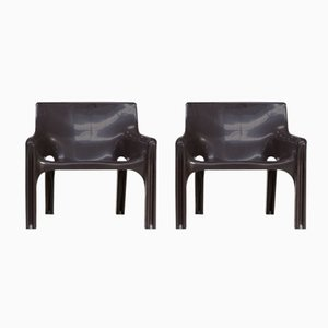 Vicario Chair by Vico Magistretti for Artemide, 1970s, Set of 2