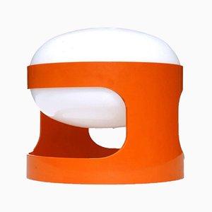 Lampada da tavolo KD27 arancione di Joe Colombo per Kartell, anni '60