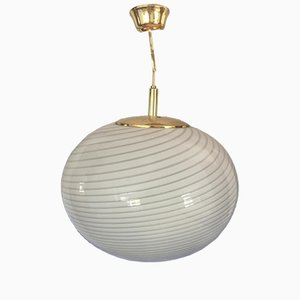 Murano Striped Glass Pendant from Vistosi, 1960s