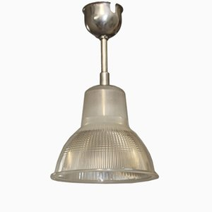 Vintage Industrial French Pendant Light from Holophane