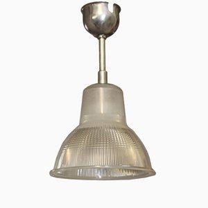 Lámpara colgante francesa industrial vintage de Holophane