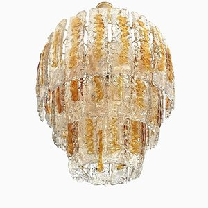 Handblown Murano Chandelier from Mazzega, 1970s