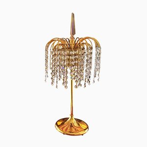 Italian Crystal & Murano Glass Table Lamps, 1970s, Set of 2