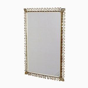 Espejo rectangular de latón de Josef Frank para Svenskt Tenn, años 50