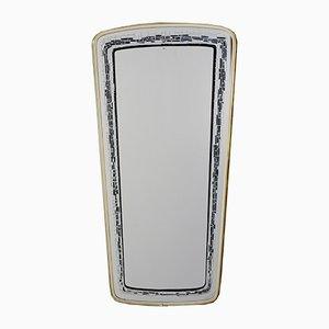 Espejo con marco estampado, años 50