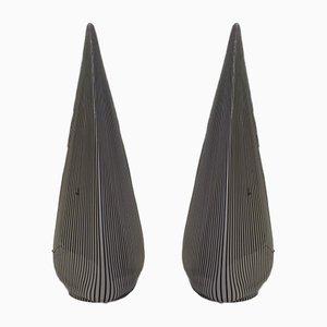 Glas Pyramiden Lampen von Lino Tagliapietra für Vetri Murano, 1982, 2er Set