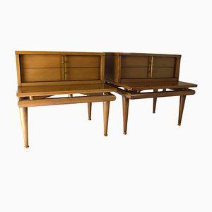 Tables de Chevet de Kent Coffey, 1950s, Set de 2