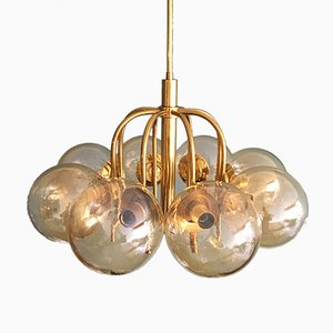Vintage 8-Arm Brass Chandelier