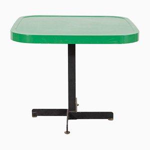 Mesa de metal esmaltado en verde de Charlotte Perriand, años 60