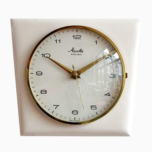 Reloj Mid-Century de cerámica de Mauthe, años 50