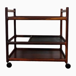 Danish Rosewood Serving Trolley by Johannes Andersen for CFC Silkeborg