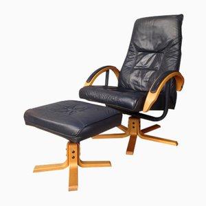 Vintage Sessel und Fußhocker von Unico