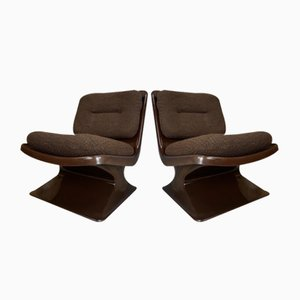 Lounge Chairs by Albert Jacob for Grosfillex, 1970s, Set of 2