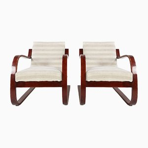Model 402 Chairs by Alvar Aalto for Finmar, 1930s, Set of 2