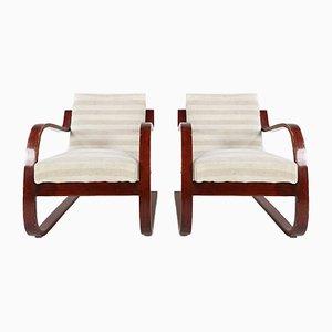 Sillas modelo 402 de Alvar Aalto para Finmar, años 30. Juego de 2
