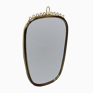 Italienischer Messing Spiegel, 1950er