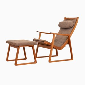Ronco Armchair with Ottoman by Jacob Müller for Wohnhilfe, 1950s
