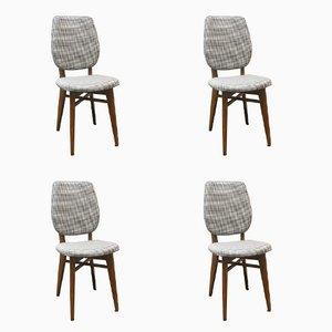 Französische Vintage Stühle, 1960er, 4er Set