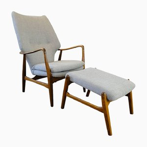 Vintage Armchair and Ottoman by Ib Madsen & Acton Schubell