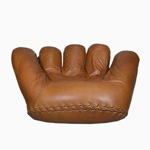 Vintage Joe Armchair in Cognac Leather by De Pas, D'Urbino, & Lomazzi for Poltronova