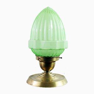 Lampada in vetro satinato e ottone, anni '30