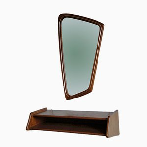 Hallway Set with Mirror and Shelf from Aksel Kjersgaard, 1950s