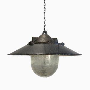Lámpara colgante industrial de fábrica, años 50